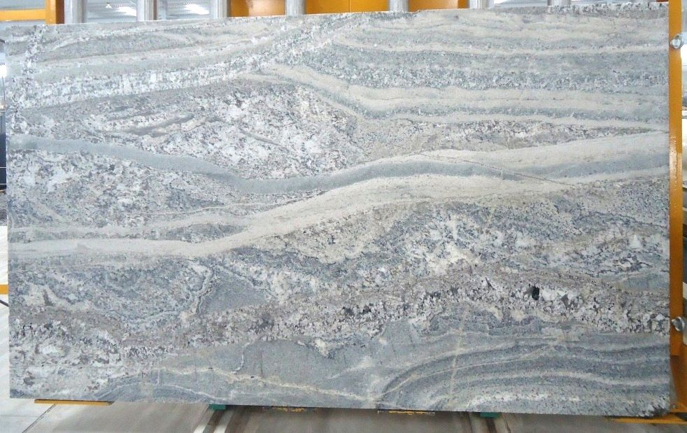 Mystic White Leather Granite Slab For Kitchen Counter Top