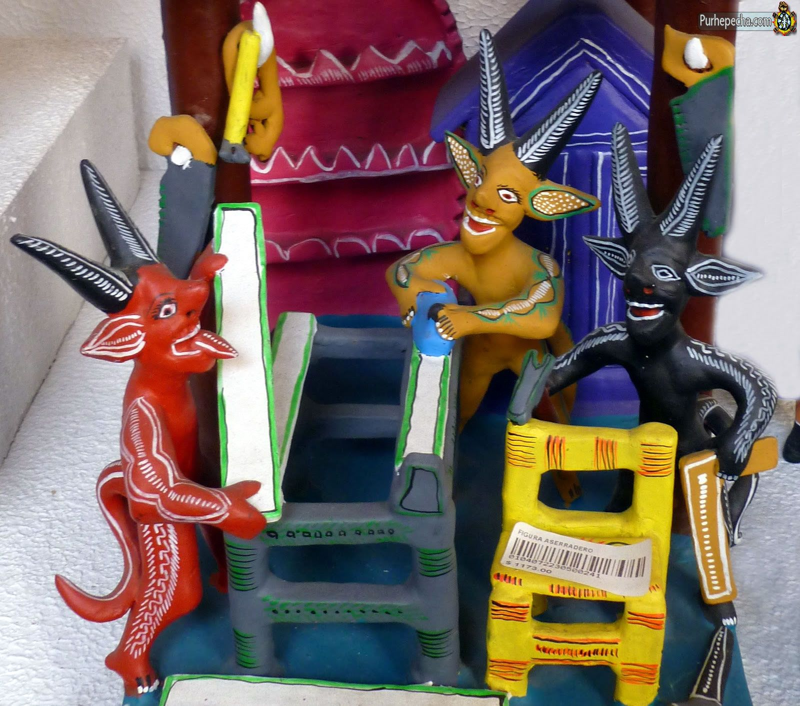 Mexican paper mache vintage judas sculpture folk art at 1stdibs - Mini Judas Figures Paper Mache