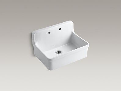 Kohler K 12700 0 Gilford 30 Quot X 22 Quot X 9 1 2 Quot Wall Mount Top Mount Single Bowl Kit With Images Vintage Kitchen Sink Apron Front Kitchen Sink Kitchen Sink
