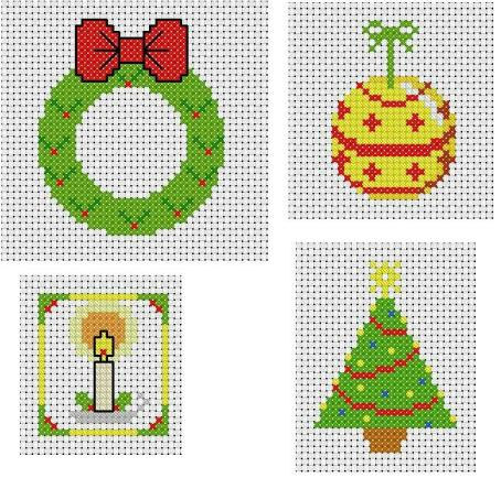 Here is a set of four very simple cross-stitch patterns suitable ...