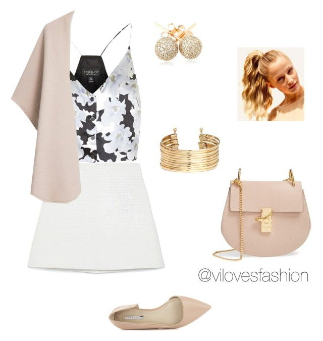 """Sin título #636"" by viviana-auricchio-g on Polyvore featuring moda, Topshop, Zara, MANGO, BCBGeneration, Chloé, H&M, Loushelou y Hershesons"