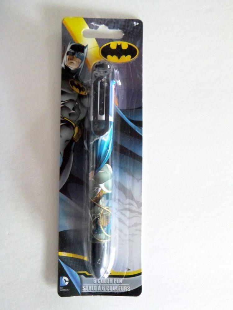 Batman Dc Comics Tm 6 Color Pen With Clip School Supplies Free Usa Ship New And Office Pinterest Comic