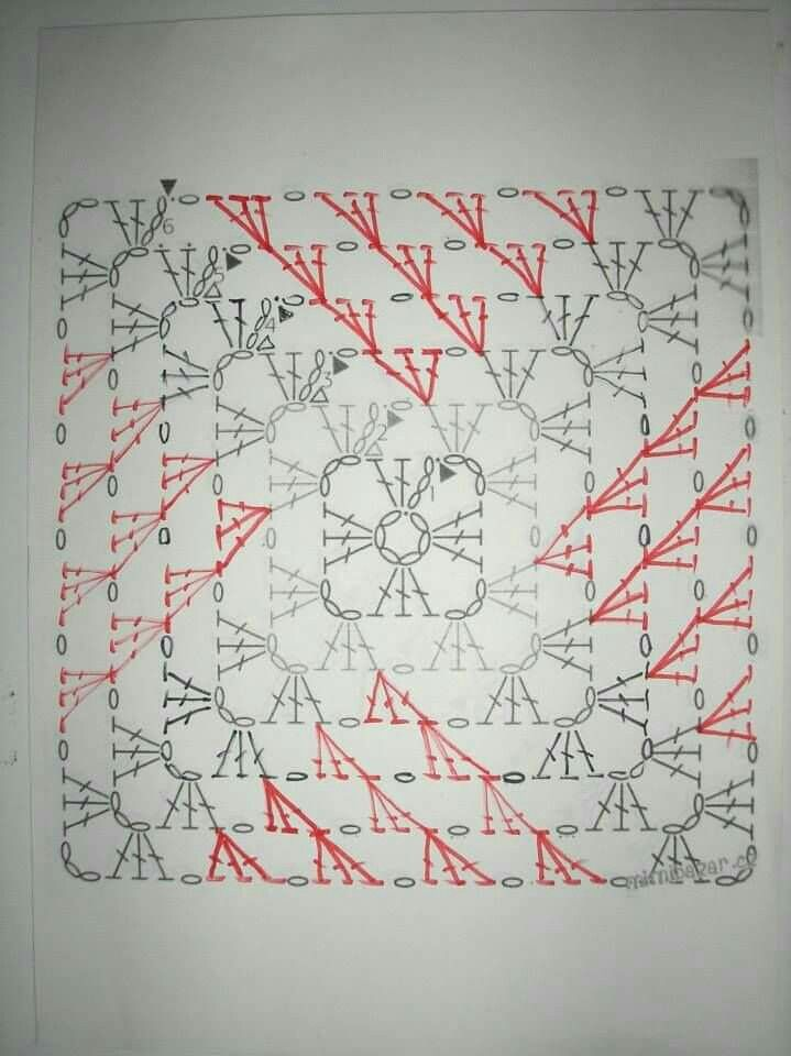 Granny graph | Crochet ~ Motifs | Pinterest | Cuadrados, Ganchillo y ...