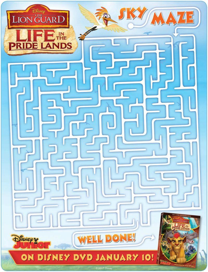 Free coloring pages lion guard - Disney Lion Guard Maze The Lioncoloring Pagesfree