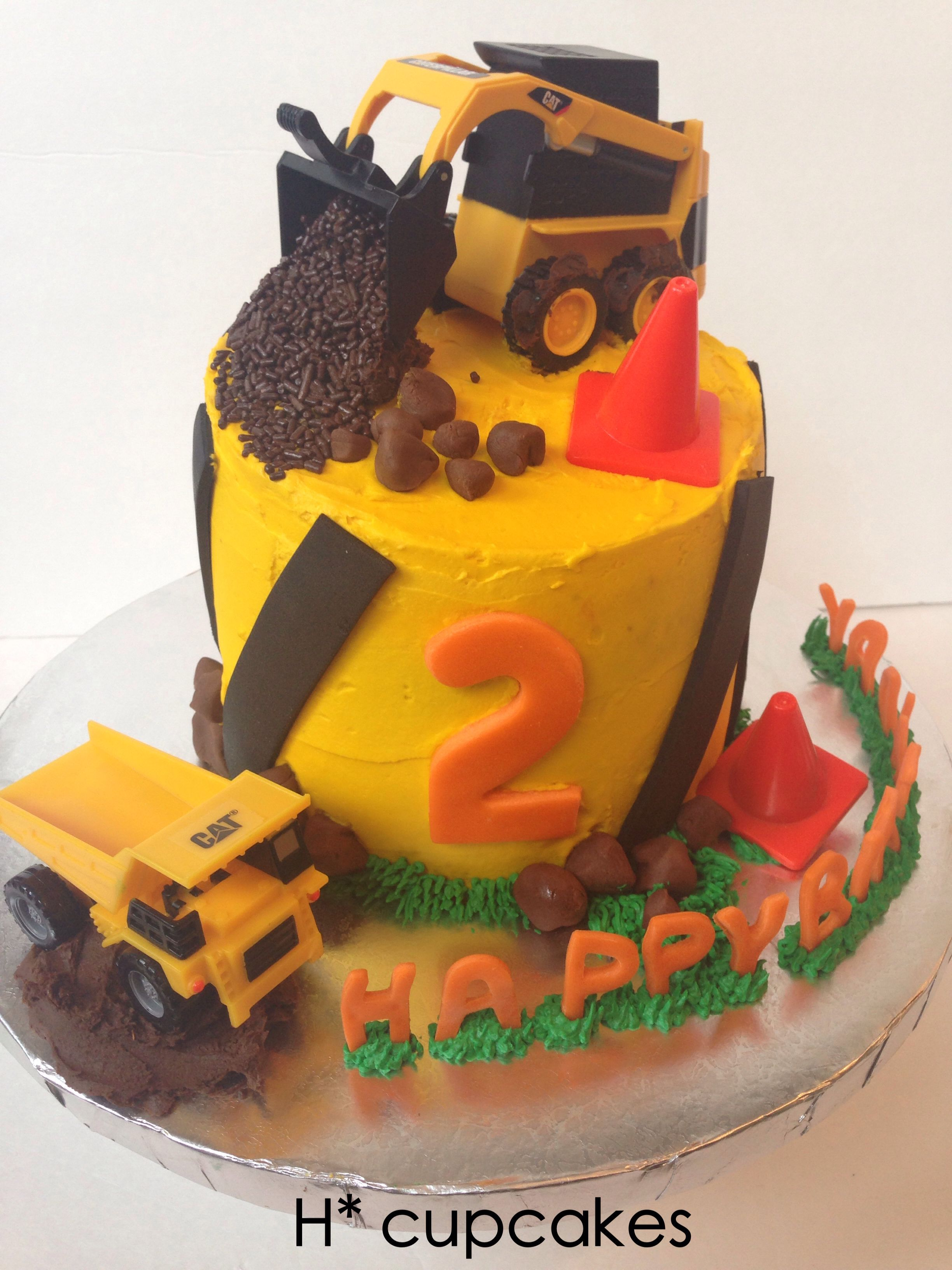 Construction cake, birthday cake, boy cake