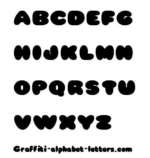 Cute Bubble Letters Graffiti Fonts 21 494x519
