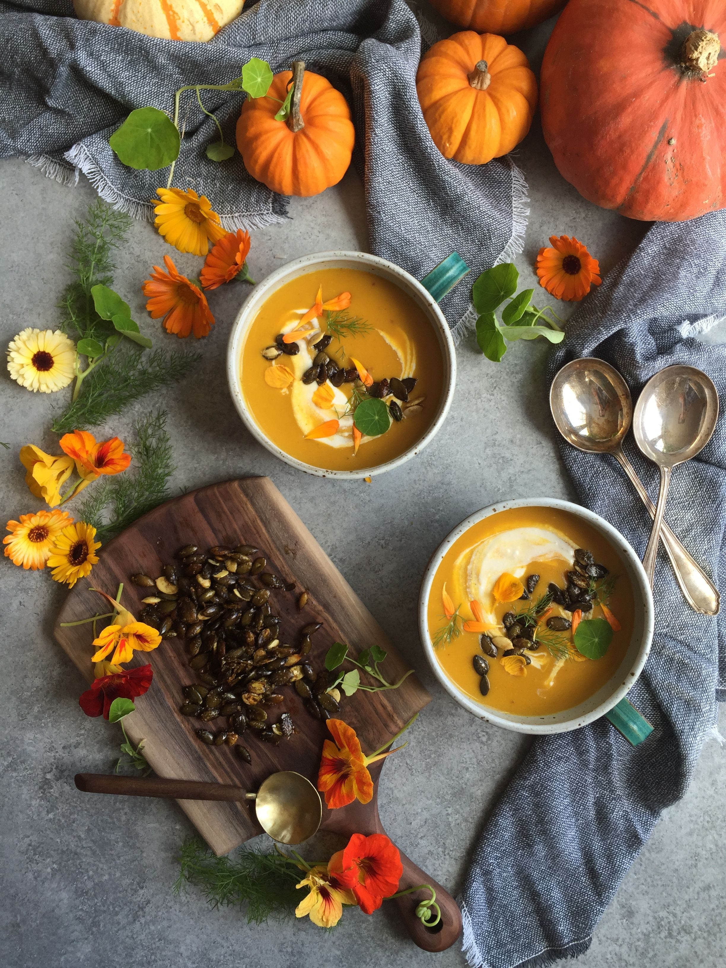 Roasted Buttercup Squash Soup Fall Recipes Food Drink Food