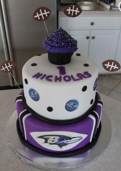 Ravens Cake With Images Baltimore Ravens Cake