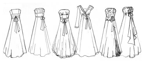 Short Prom Dresses Sketches