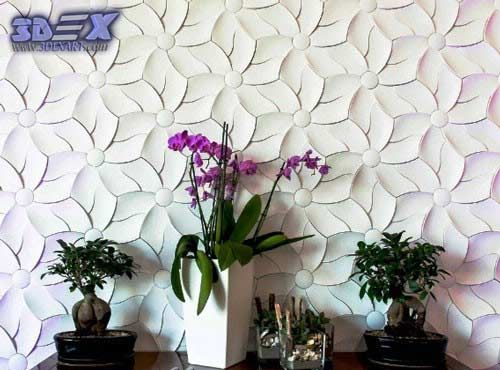 decorative 3d gypsum wall panels, flower plaster wall paneling ...
