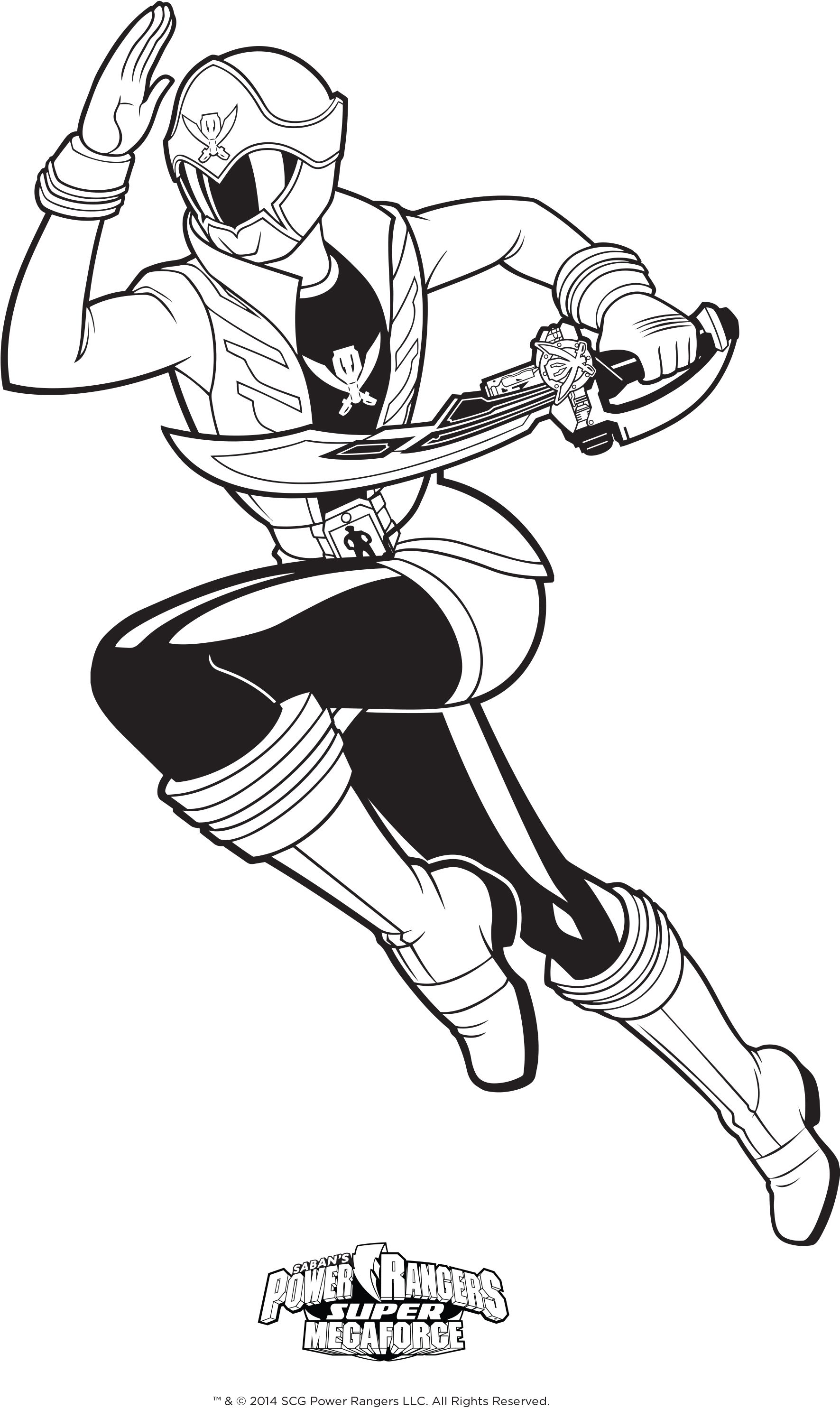 Power Rangers Coloring Page Super Megaforce Pink Ranger Kids