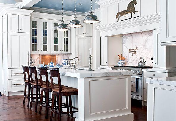 Hampton Style Kitchen Designs Fair I Really Like The Painted Beadboard Ceilingwhite Kitchen Design Ideas