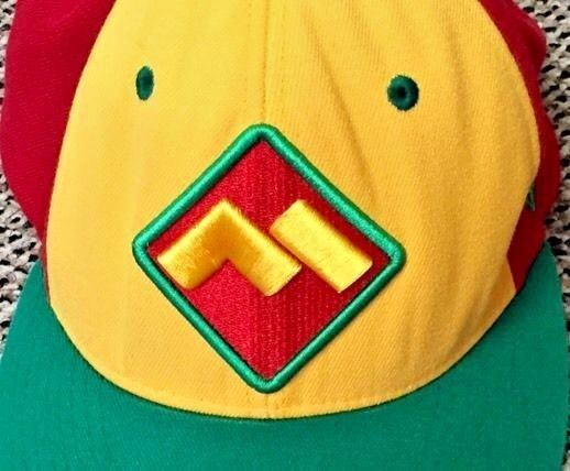 87abad4344d Super Wario Mario  Logo Cap Hat Chopped M L Yellow Red Green Triangle