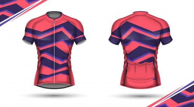 Cycling jersey, front and back Premium V... | Premium Vector #Freepik #vector #woman #fitness #footb...