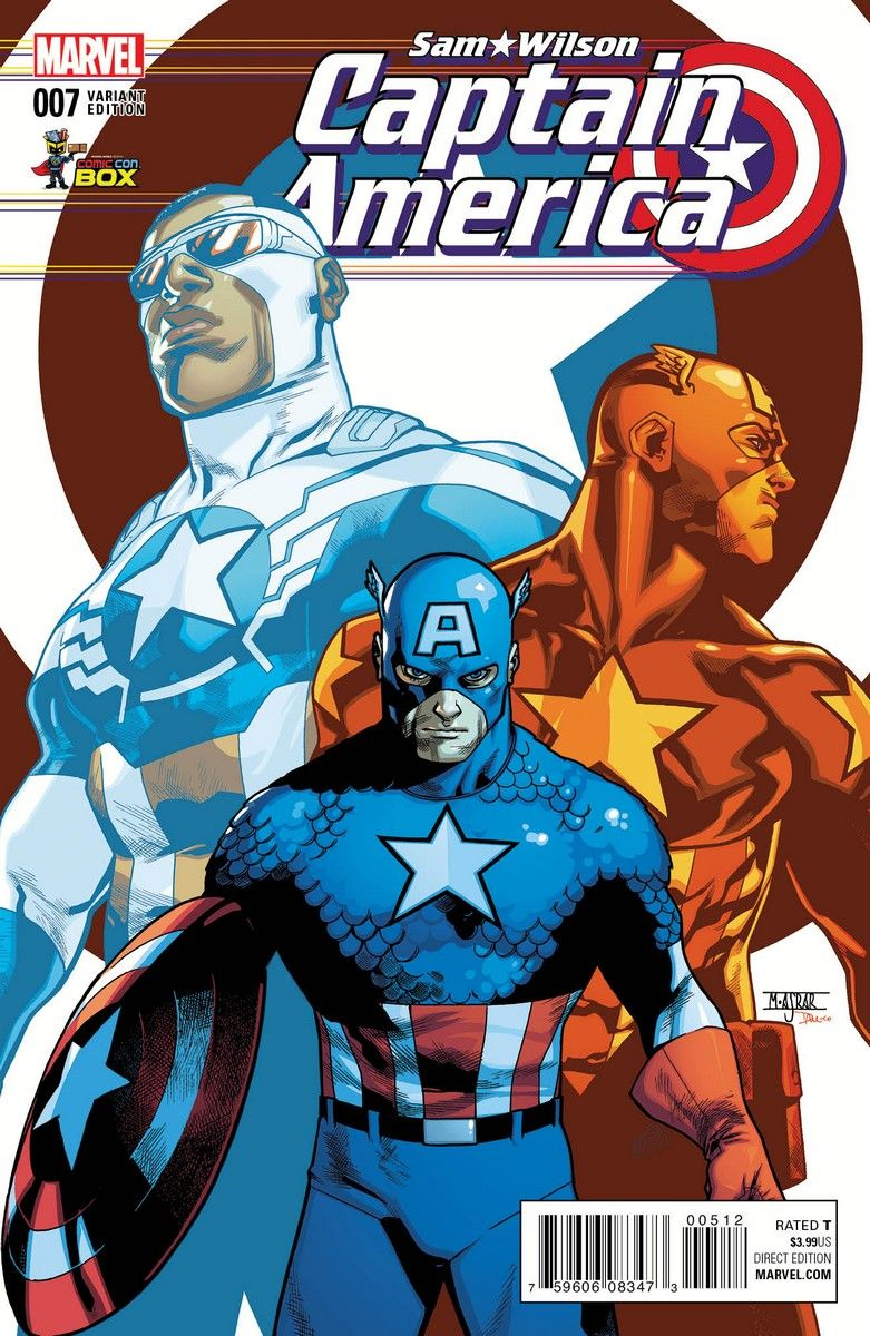 Three Caps Unite In Captain America Sam Wilson 7 Variant Captain America Art Captain America Marvel Captain America