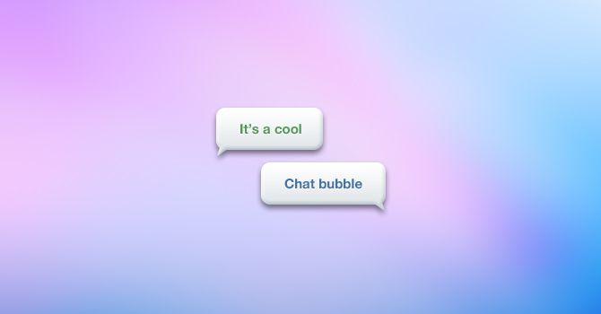 PSD bubble chat messages freebie.
