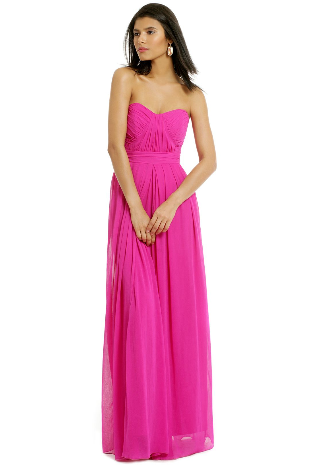 Badgley Mischka Fluorescent Chiffon Gown | Dresses | Pinterest