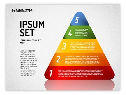 http://www.poweredtemplate.com/powerpoint-diagrams-charts/ppt-stage-diagrams/01692/0/index.html Colorful 2D Pyramid