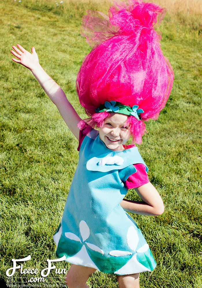 Princess Poppy Costume DIY (Free Pattern)  sc 1 st  Pinterest & Princess Poppy Costume DIY (Free Pattern) | Sewing projects ...