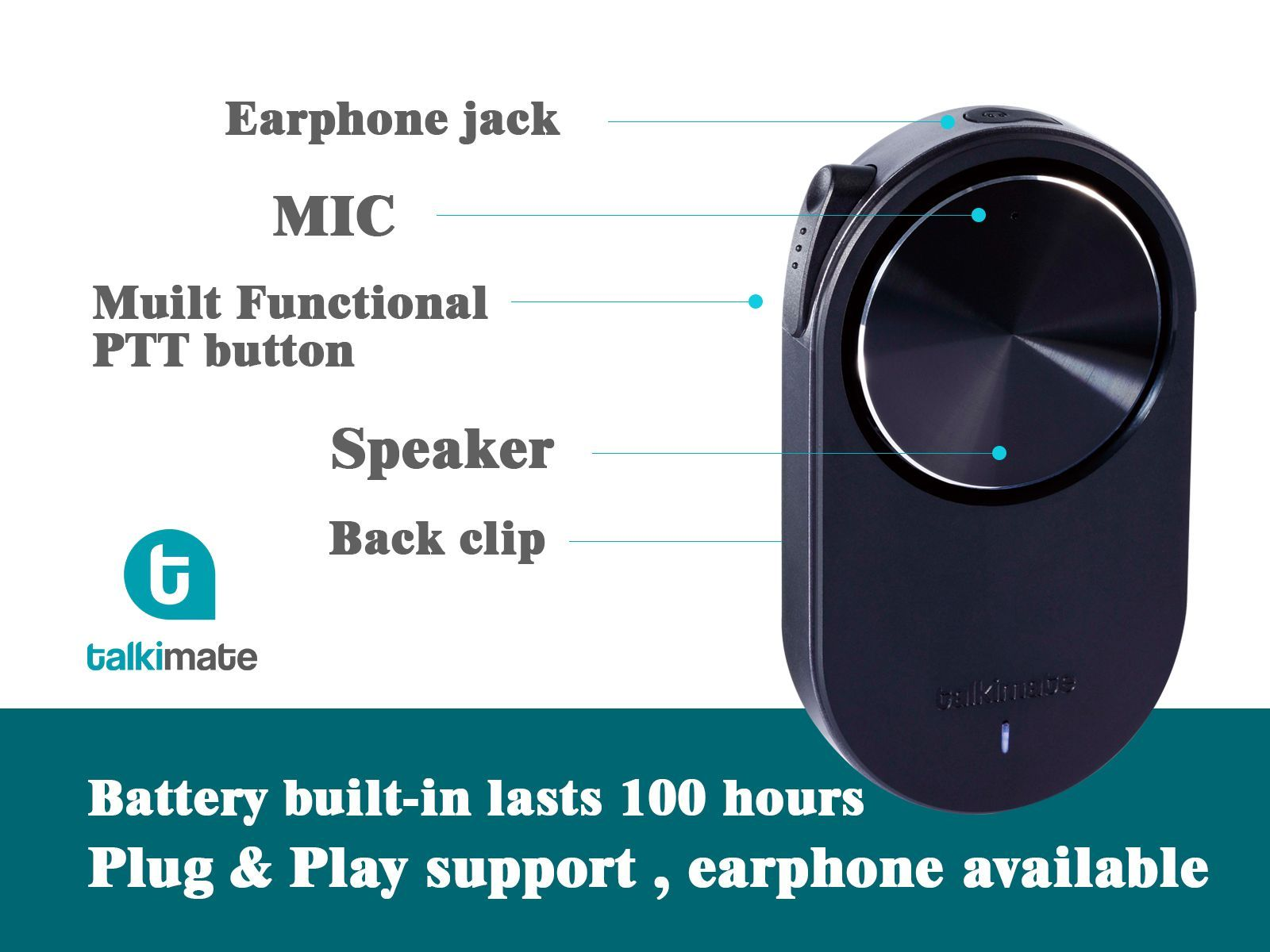 Push To Talk Hand FREE Shoulder Speaker Microphone Wired