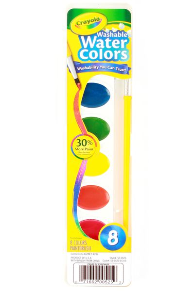 Crayola Washable Watercolor Paints 8 Assorted Colors Paint