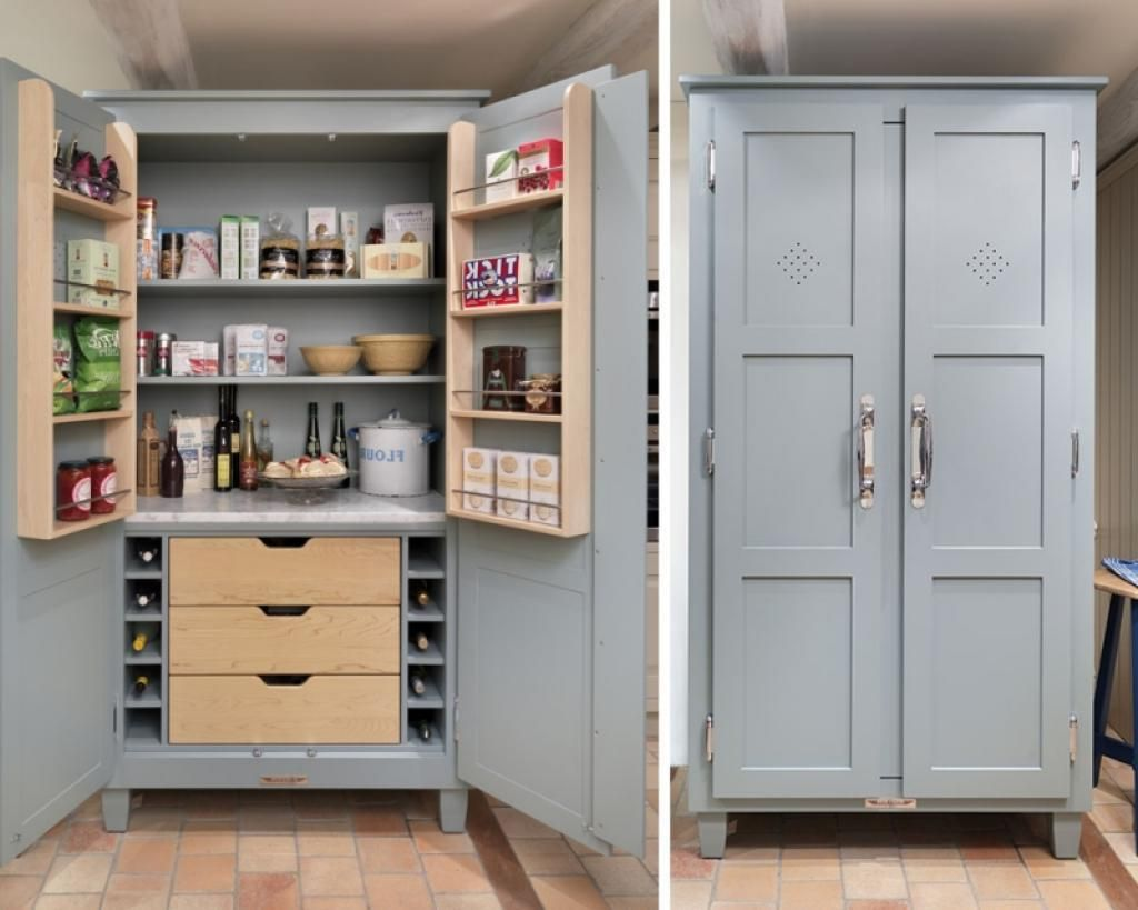 Kitchen Pantry Cabinet Ideas Baytownkitchen Gray Storage With Bottle Shelved Inside The Wooden Materials Made