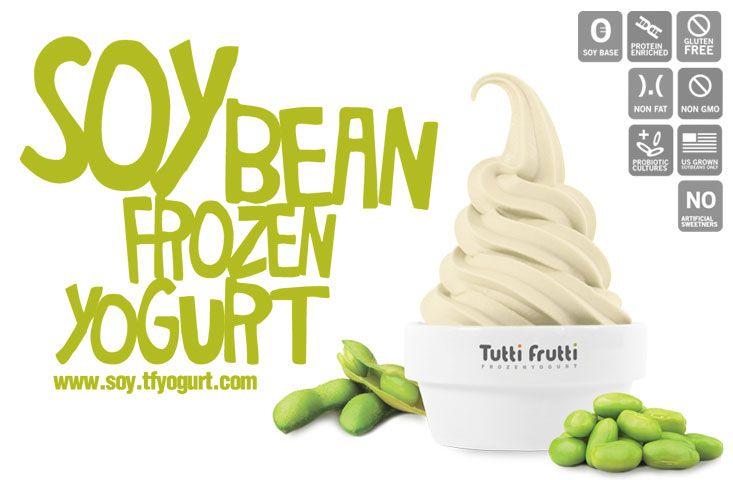 Unique Soy Bean Flavors Only At Tutti Frutti Stl Dairy Free Frozen Yogurt Tutti Frutti Frozen Yogurt