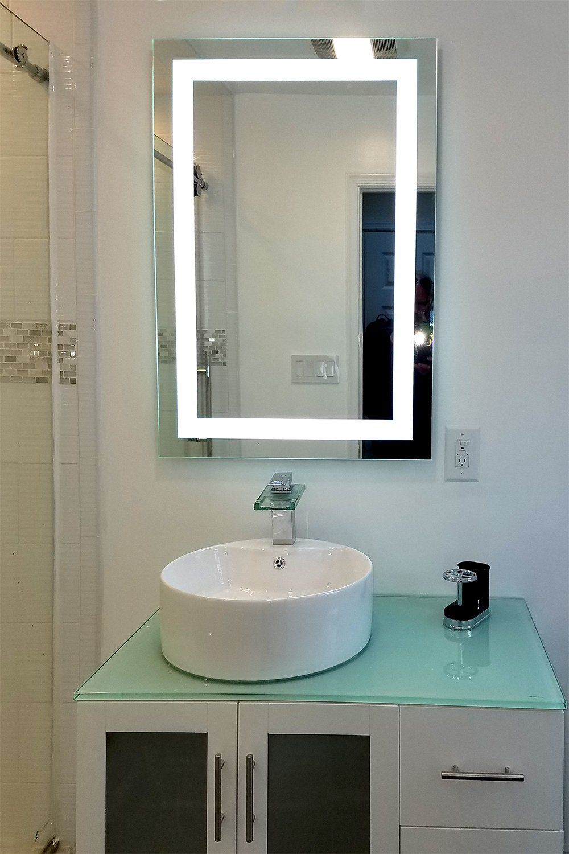 Front Lighted Led Bathroom Vanity Mirror 32 In 2021 Bathroom Vanity Mirror Vanity Mirror Bathroom Vanity [ 1500 x 1000 Pixel ]