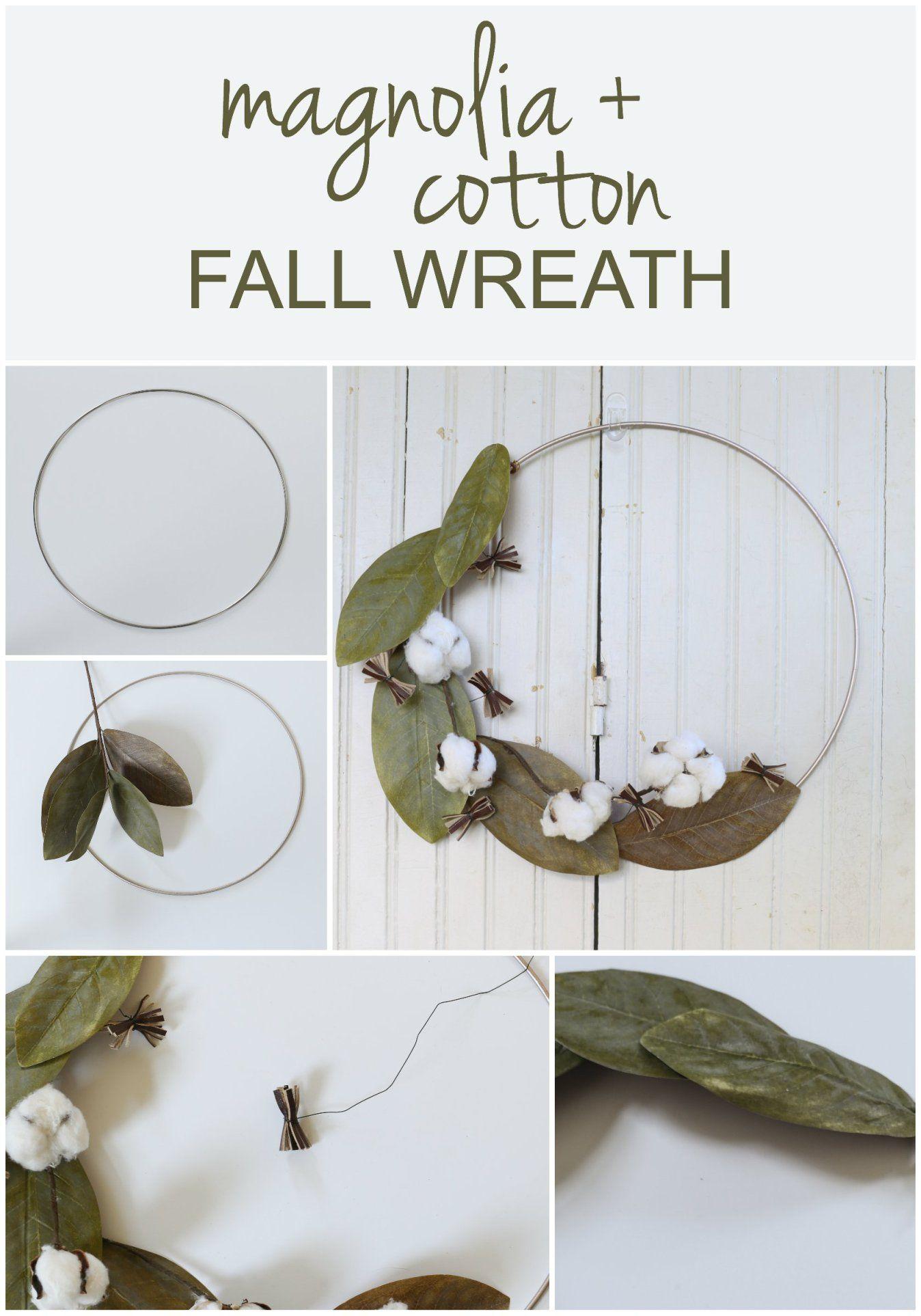 DIY Magnolia Fall Wreath Easy fall wreaths, Magnolia
