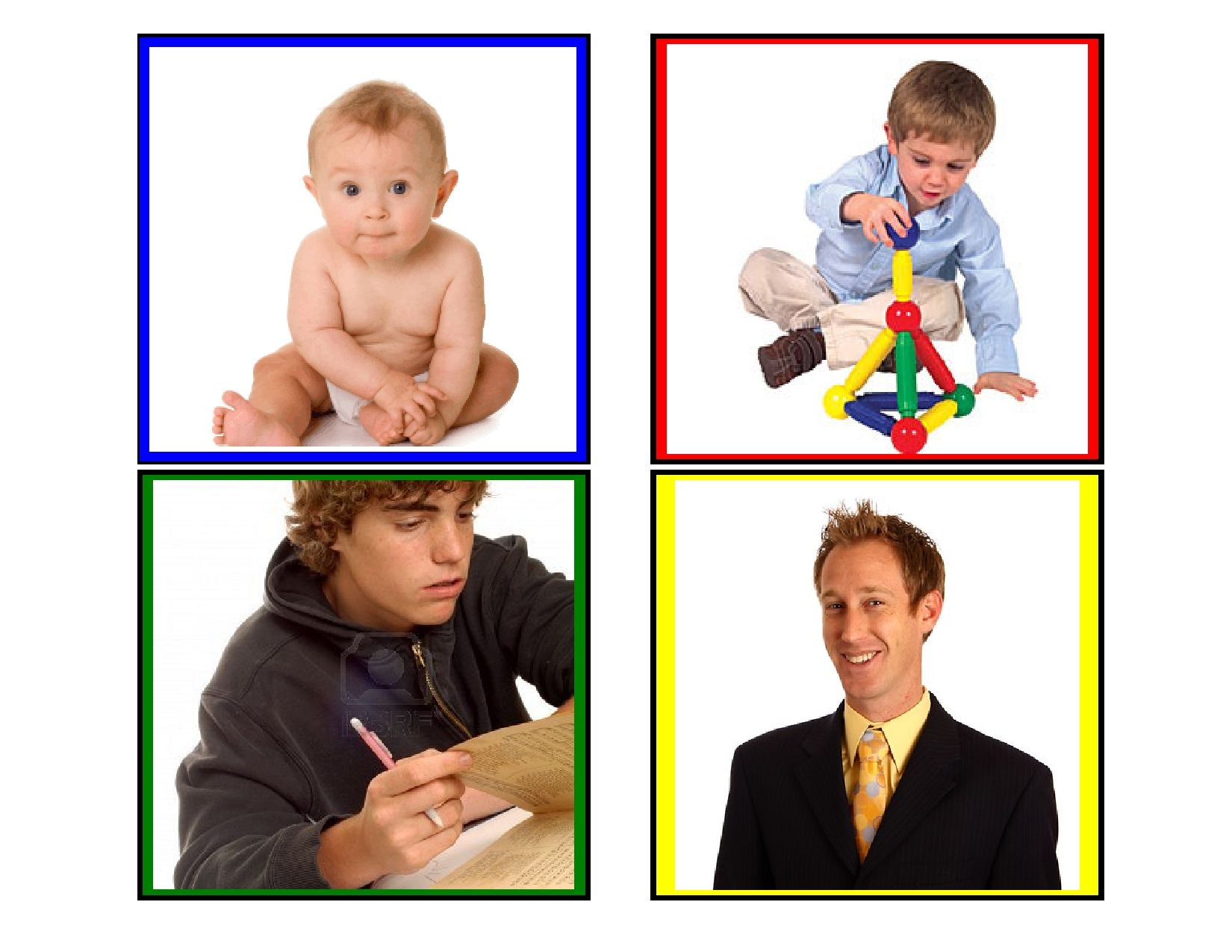 Baby To Man Sequence Cards Help Preschoolers Develop