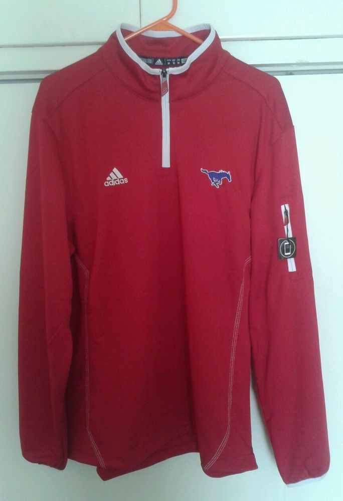 7b645d543 Southern Methodist University SMU Mustangs Red Adidas Track Jacket Medium  NEW #adidas #SMUMustangs