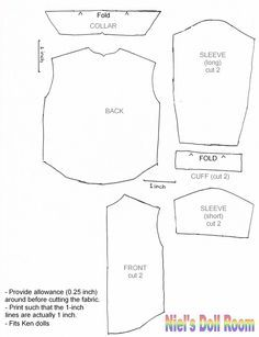 picture about Free Printable Ken Doll Clothes Patterns named absolutely free printable ken doll garments types - Google Seem