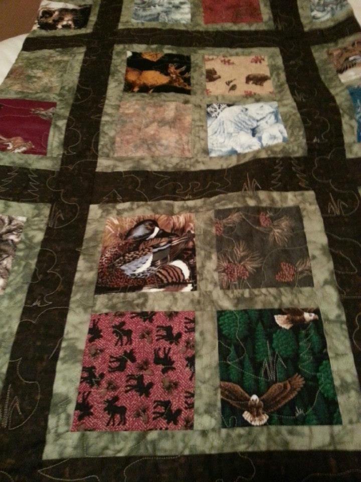 Wildlife Rustic Nic's quilt