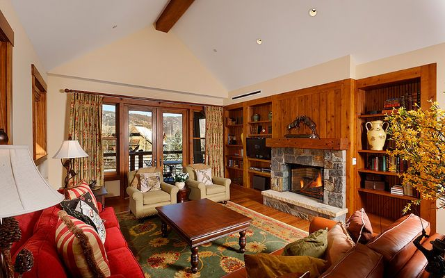 Great place to relax and enjoy a warm cup of hot chocolate by the fireplace.