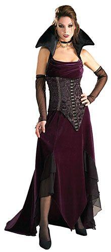 VICTORIAN VAMPIRESS FANCY DRESS COSTUME HALLOWEEN DRACULA WOMAN/'S FEMALE
