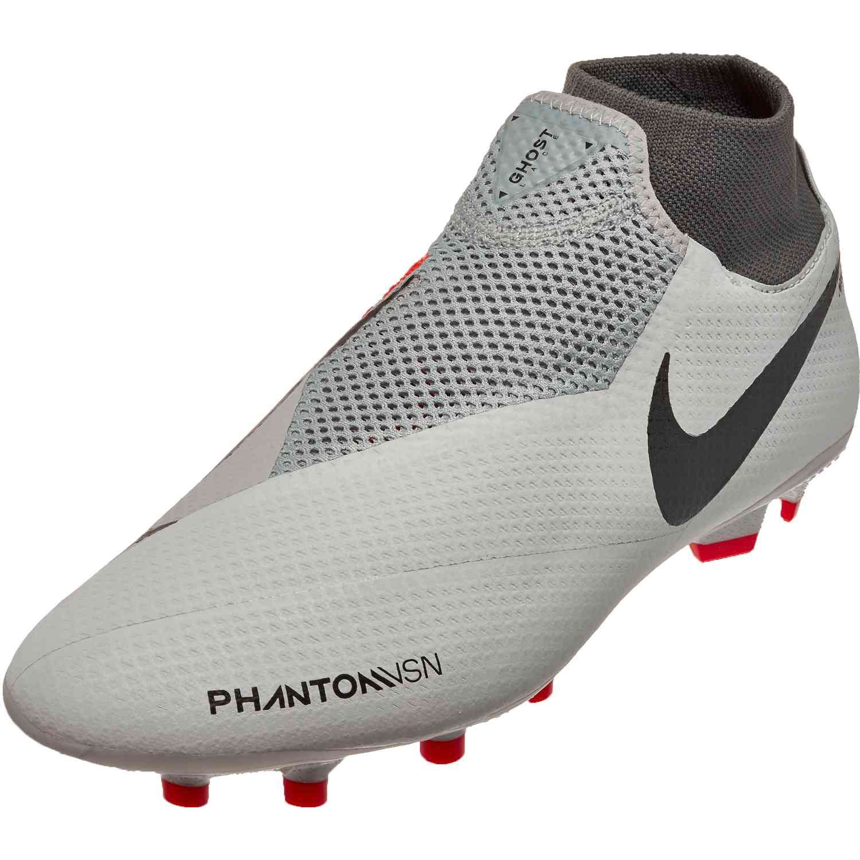 81d25379 Nike Phantom Vision Pro FG – Pure Platinum/Black/Light Crimson/Dark ...