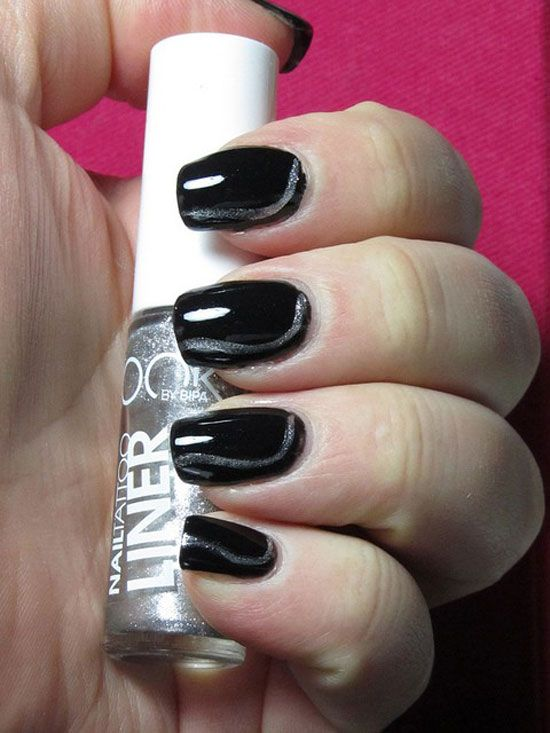 20 Easy Simple Black Nail Art Designs Supplies Galleries For Beginners 2 20  Easy & Simple Black Nail Art Designs, Supplies & Galleries For Beginners - 20-Easy-Simple-Black-Nail-Art-Designs-Supplies-Galleries-For