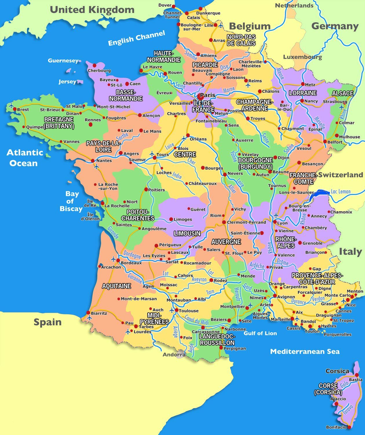 France map world maps focmaps france map world maps map of france map of world map gumiabroncs Choice Image