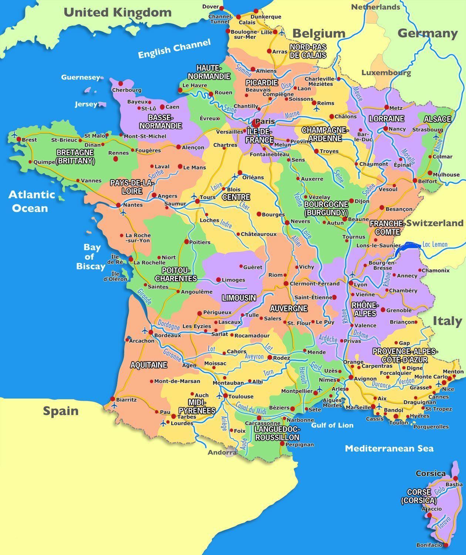 France map world maps focmaps france map world maps map of france map of world map gumiabroncs Choice Image
