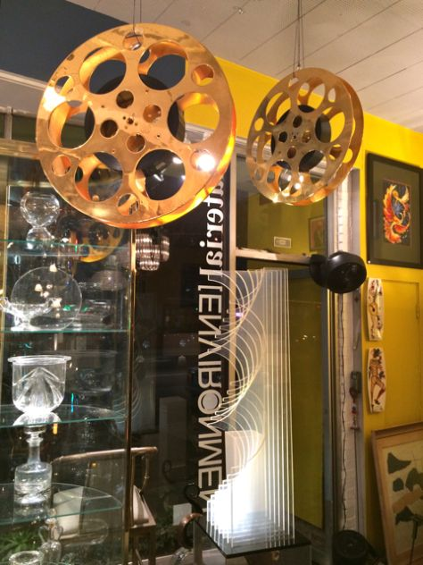 Gold Plated Film Reels at m[E], Los Angeles, Photo Romi Cortier