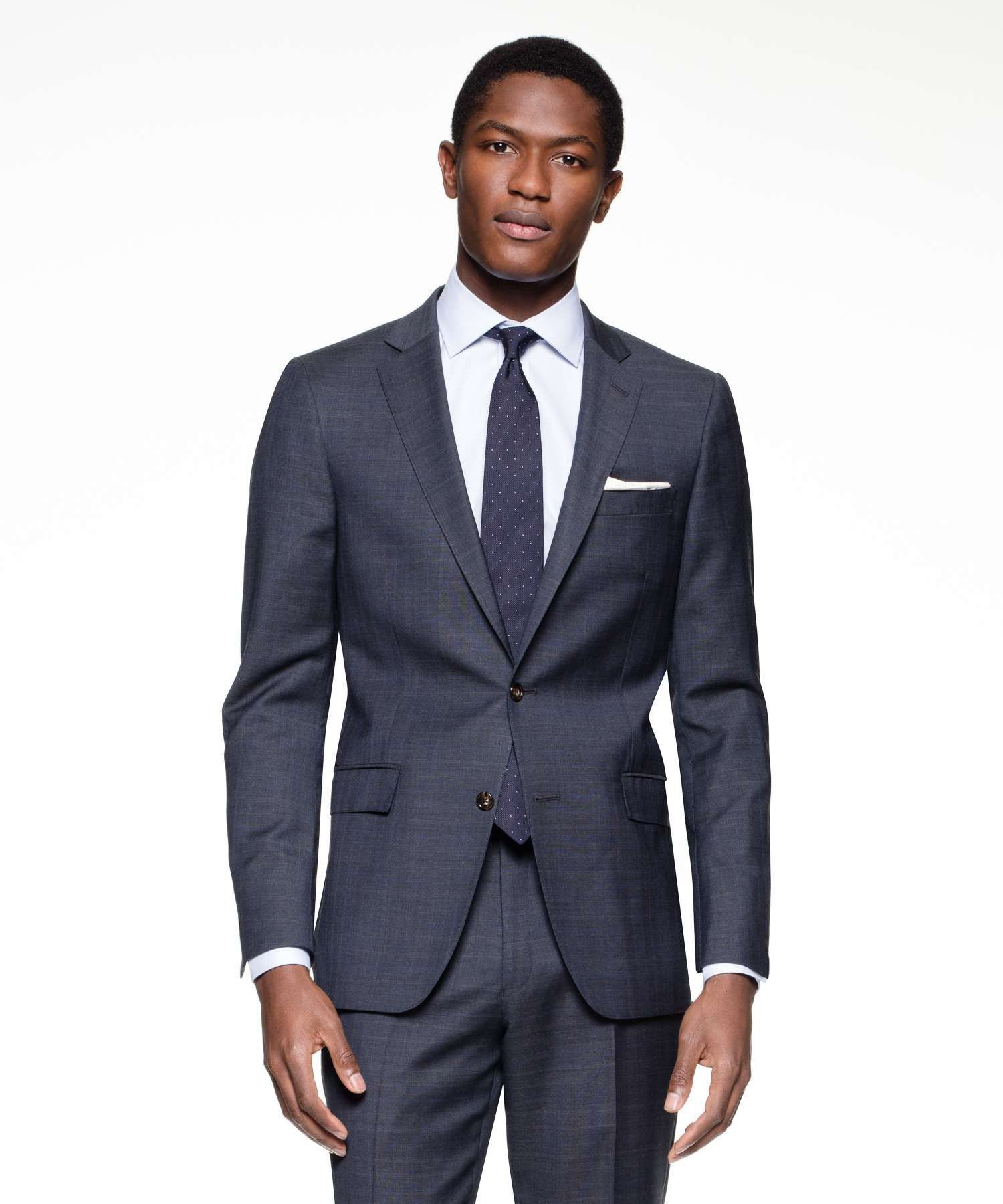 Sutton Suit Jacket in Italian Navy Glen Plaid Tropical Wool | Ropa ...