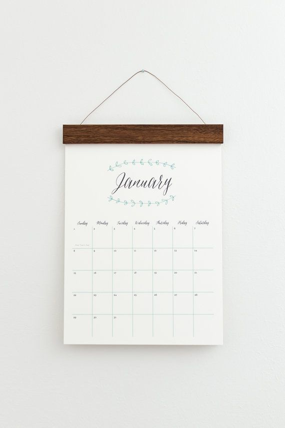 2019 Wall Calendar Extra Large Xl Monthly Pretty Leaves Wall Calendar 2017 Wall Calendar Calendar