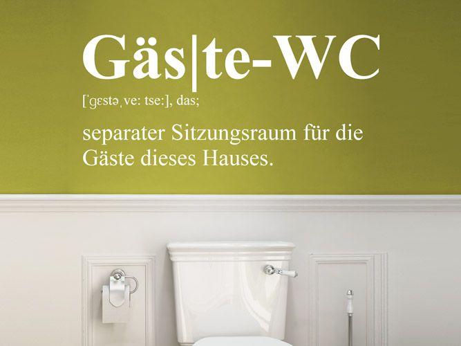 Wandtattoo Gäste WC - Separater Sitzungsraum Wandworte Pinterest - Wandtattoos Fürs Badezimmer