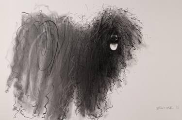 "Artist Endre Penovác; Drawing, ""Puli """