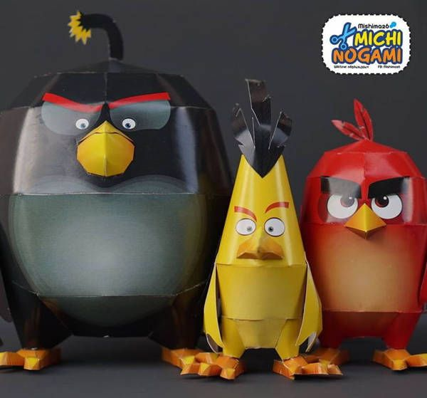 Angry birds free papercrafts download jubchaypaper toys - Telecharger angry birds gratuit ...