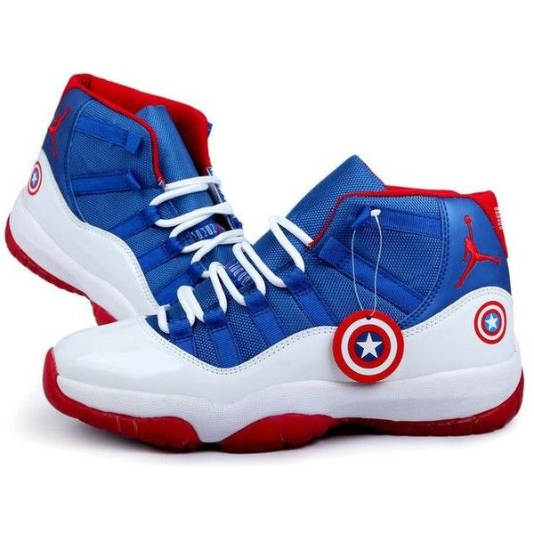 Nike Air Jordan 11 Captain America White Blue Red Shoes