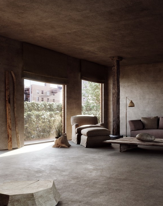 Old fashioned howard club single 3d sofa by manufacturer axel vervoordt from belgium placed - Wabi sabi interior design ...