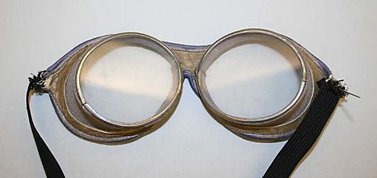 Spectacles/Motoring Goggles, Early 20th Century (with Modern Elastic Repair)