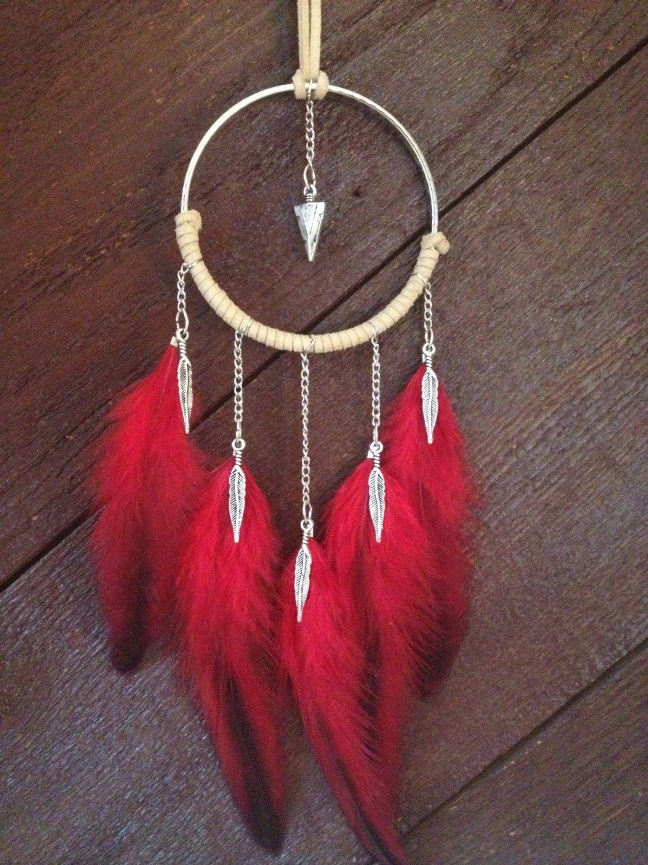 Dreamcatcher dream catcher feather necklace statement necklace