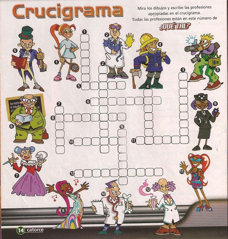 Crucigrama Profesiones